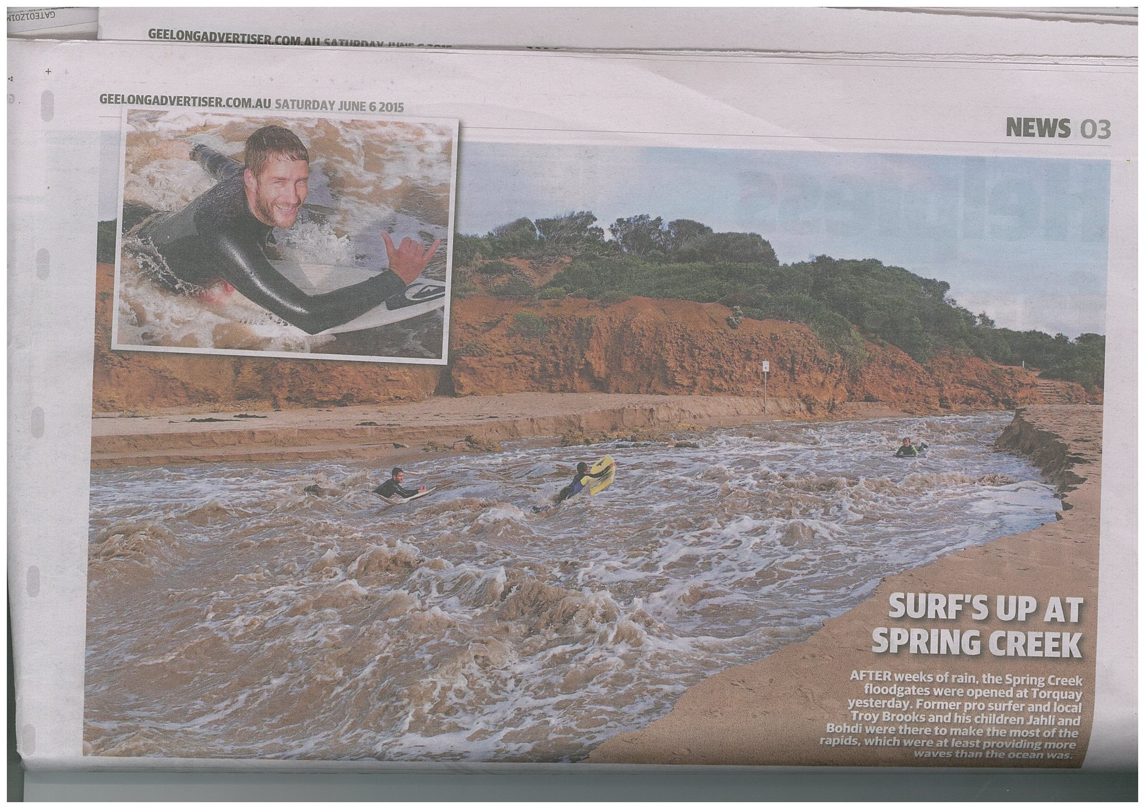 Artificial Estuary Opening_Geelong Advertiser