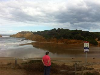 Photo taken from estuary mouth observation photo point
