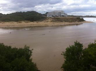 photo taken from point opposite Sp1 photopoint. Constant inflow of tidal seawater visible